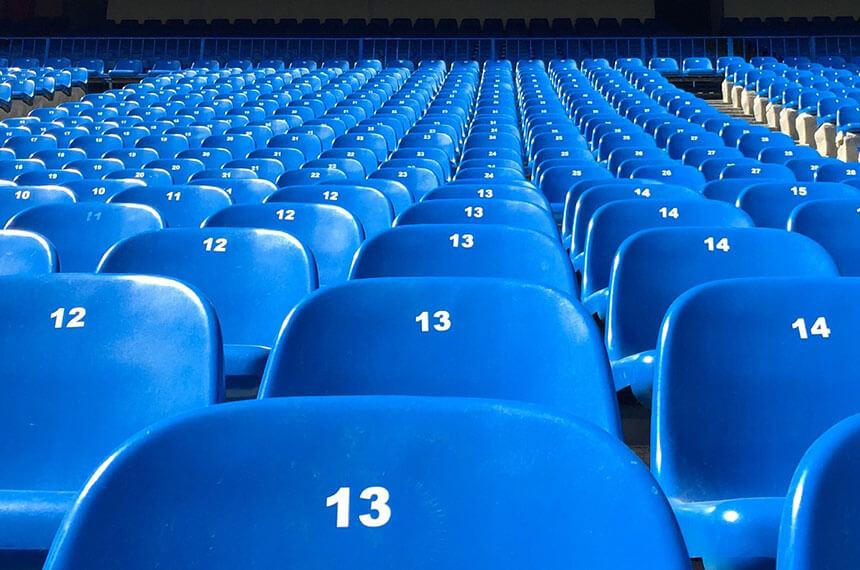 football club seats (blue)