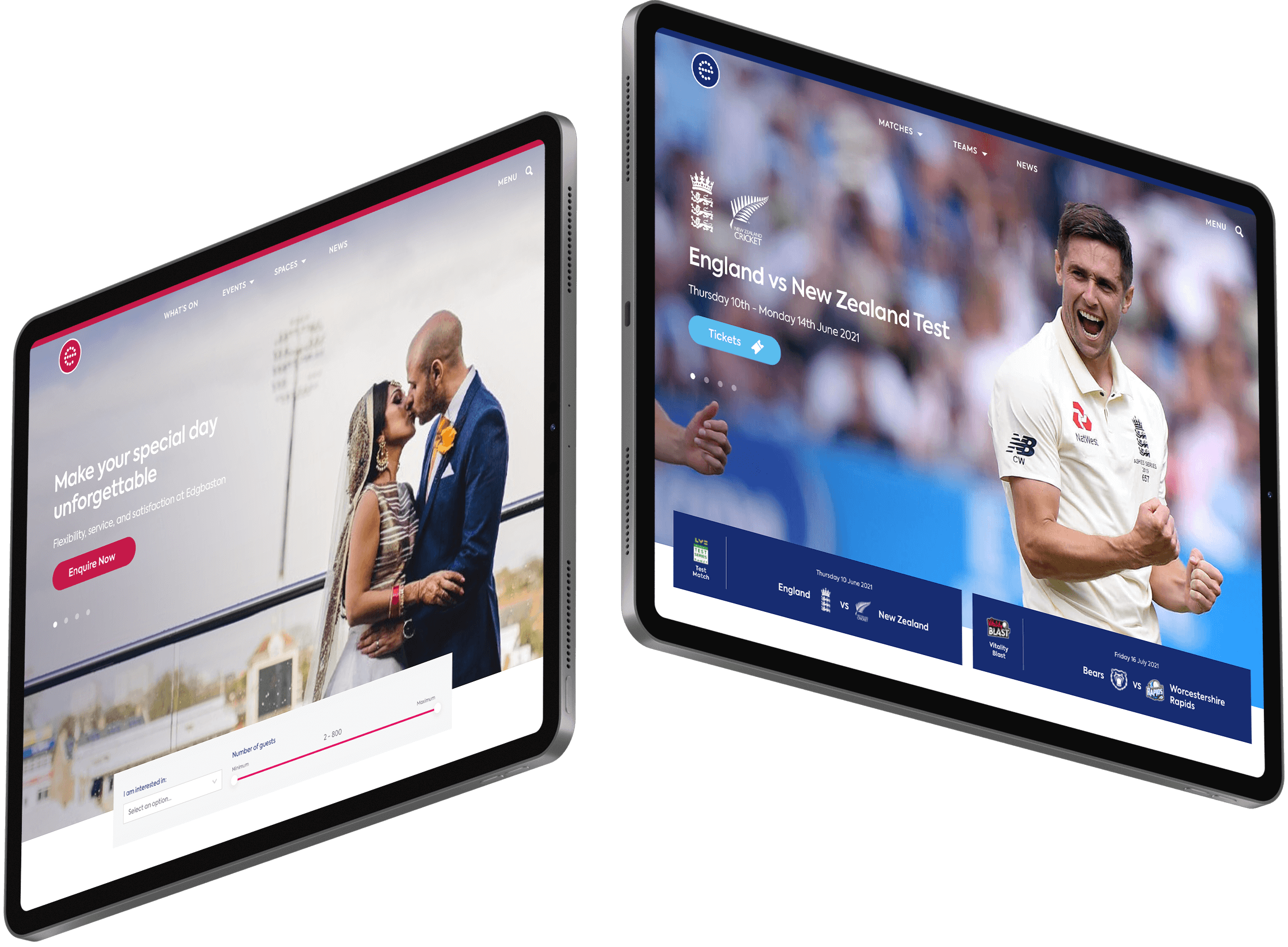Edgbaston website design by Class