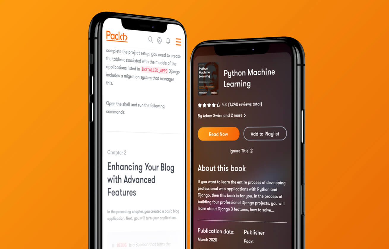 Packt Publishing mobile website design by Class
