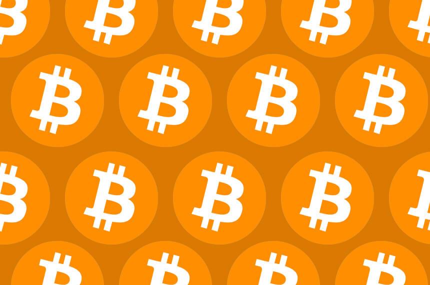 Bitcoin logo looped