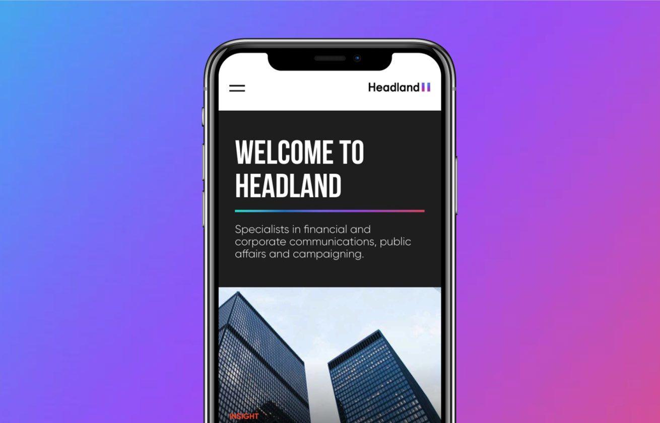 Headland mobile website design by Class